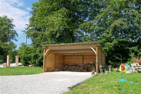 Charmant Abris De Jardin Avec Auvent #2: Garage-Abri-Bois.jpg