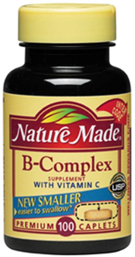 Vitamin B Complex Generik Nature Made B Complex With Vitamin C Caplets 100