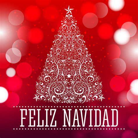 feliz navidad feliz navidad merry christmas spanish text stock vector