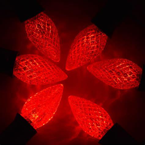 candelabra christmas lights red 3 led c7 faceted christmas light bulbs e12 candelabra