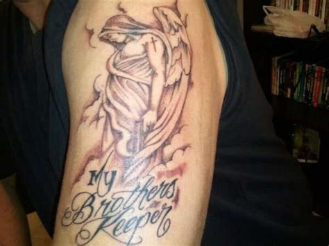 im my brothers keeper tattoos the best my brothers keeper jpg 600 215 450 pat