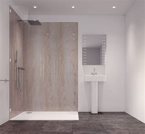 mermaid board for bathrooms splashwall natural turin marble effect single shower panel