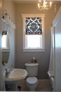 San Francisco Blinds Black And White Roman Shade In The Bathroom Traditional