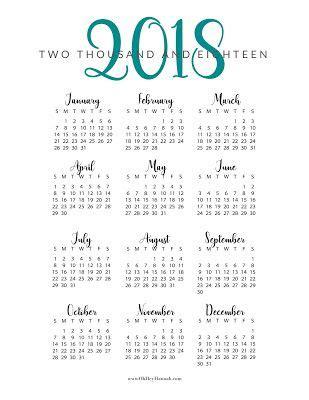 printable calendar year at a glance 2018 free printable 2018 year at a glance calendar oh hey