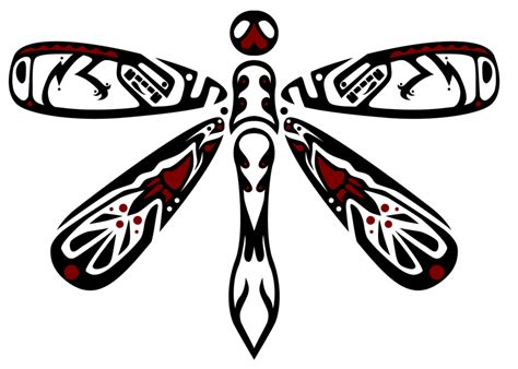 red and black tribal tattoos and black tribal dragonfly design