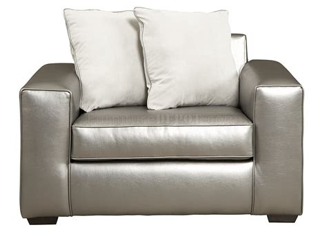 Graphite Polyester Microfiber Modern Sofa Chair Set W