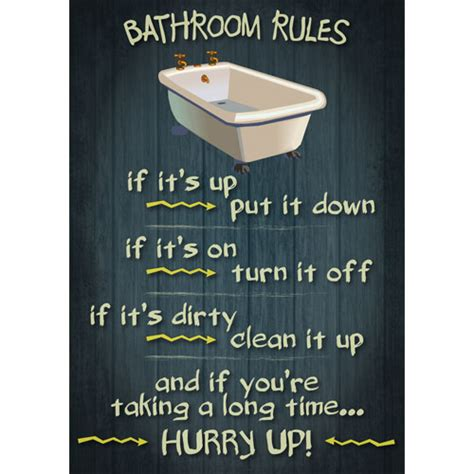 Bathroom Plaque by Bathroom Retro Vintage Poster Message Wooden Appearance Sign Plaque Ebay
