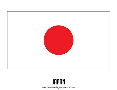 Japan Flag Printable Printable 360 Degree Japan Flag Template