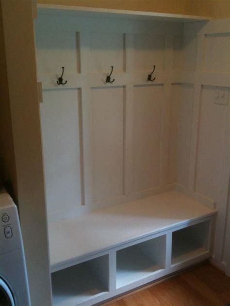 built in bench mudroom bench and coat hooks i built in my mudroom mudroom
