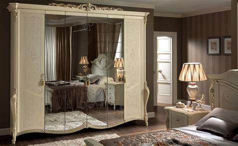 armadi di lusso armadio classico 6 ante con specchio ideale per camere