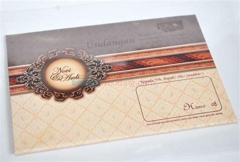 Murah Undangan Hardcover Mk Coklat Gold undangan pernikahan hardcover murah hrc08 banjar wedding