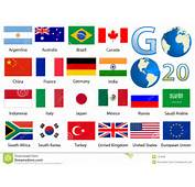 Detailed Industrialized Country Flags And World Map Manually Traced