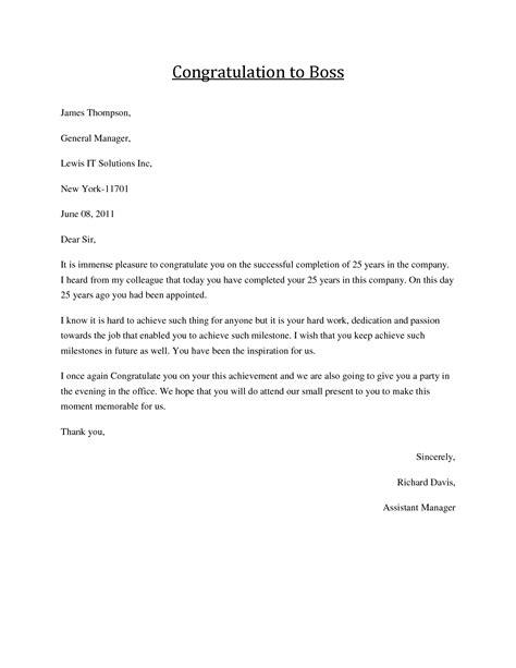 congratulations letter boss job congratulations