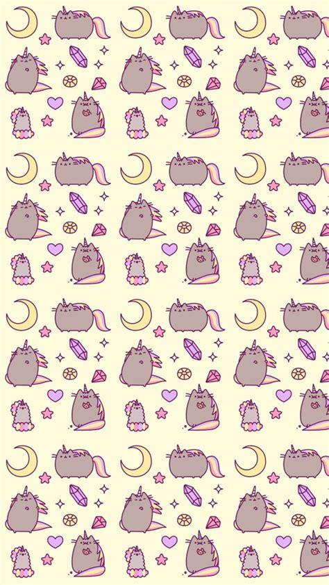 cat pattern iphone wallpaper art background beautiful beauty cartoon cats design