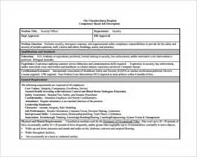 officer description template 12 security officer description templates free
