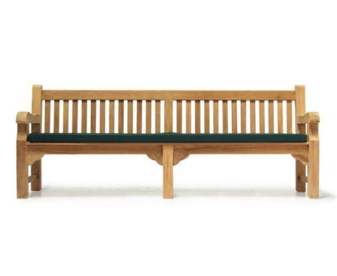 heavy bench balmoral 8ft teak heavy duty street park bench