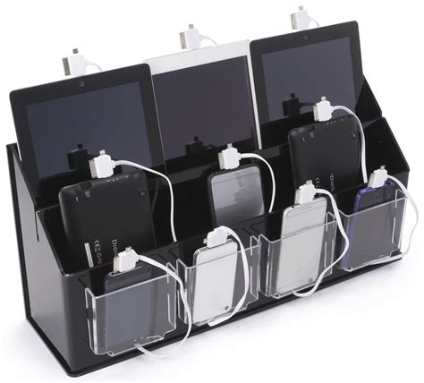 best charging station organizer multi device charging station organizer black clear