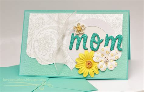 mom cards love in envelope tiffany blue quilling handmade card for mom