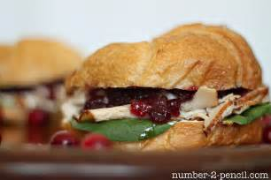 cranberry turkey sandwich no 2 pencil