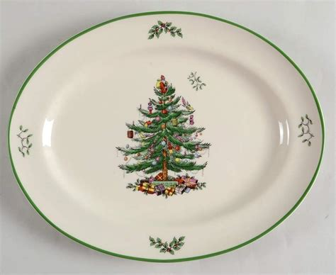 spode christmas tree oval serving platter 10122222 ebay