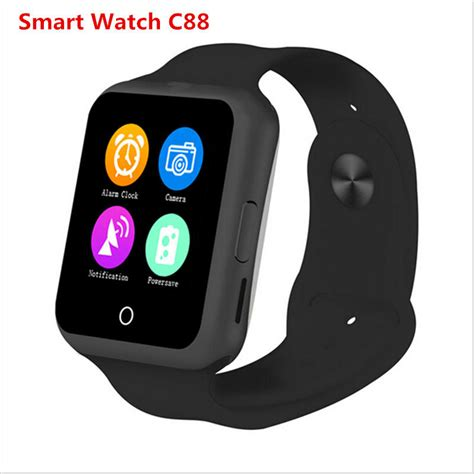 newest android newest smart android sim card c88 smartwatch for ios android smartphone samsung htc