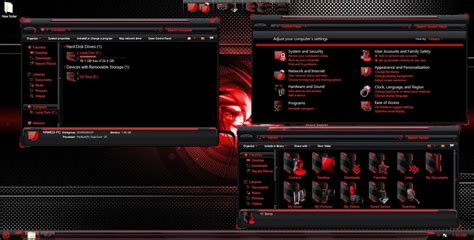hud themes for windows 8 1 hud red skinpack for windows 7 8 8 1 windows10 themes i