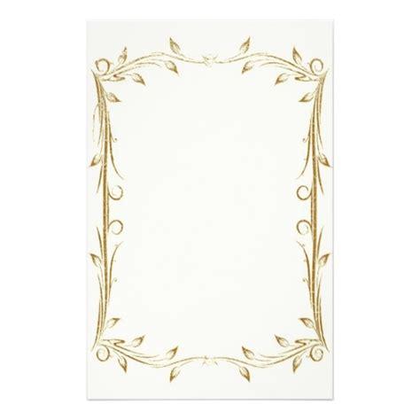Wedding Border Stationery by 15 Design Paper Border Images Gold