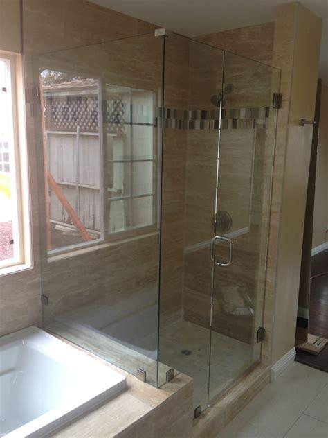 Frameless Shower Doors San Diego Park San Diego Frameless Patriot Glass And Mirror