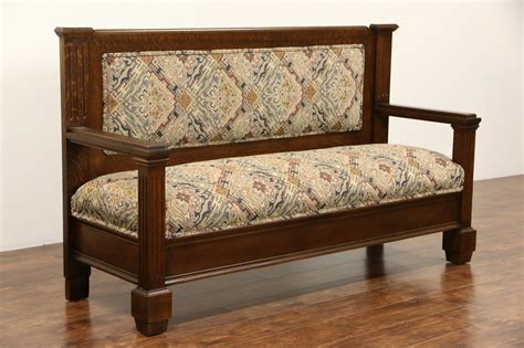 furniture settee sold oak 1900 antique hall bench or settee new