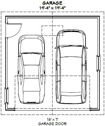 Dimensions Of A 2 Car Garage | 2 car garage sizes standard pilotproject org