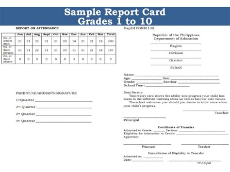 Cbe Report Card Template Report Card Sle For Preschool