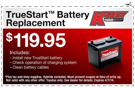 Toyota Truestart Battery Toyota Service Center Coupons