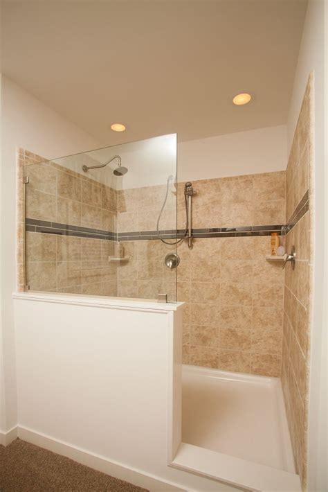 Pinterest Bathroom Showers Best Half Wall Shower Ideas On Pinterest Bathroom Showers Apinfectologia