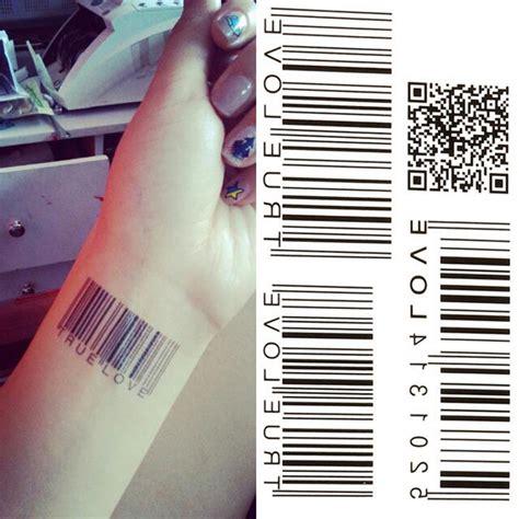 barcode love tattoo popular fake barcode tattoo buy cheap fake barcode tattoo
