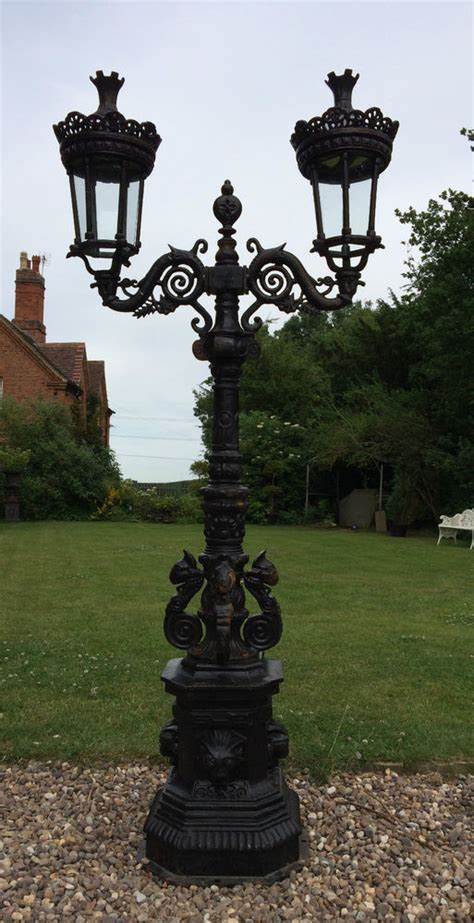 Cast Iron Garden L Post by Cast Iron L Post In Style Two Headed