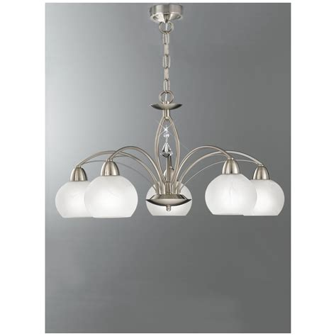 thea satin nickel ceiling light franklite fl2277 5