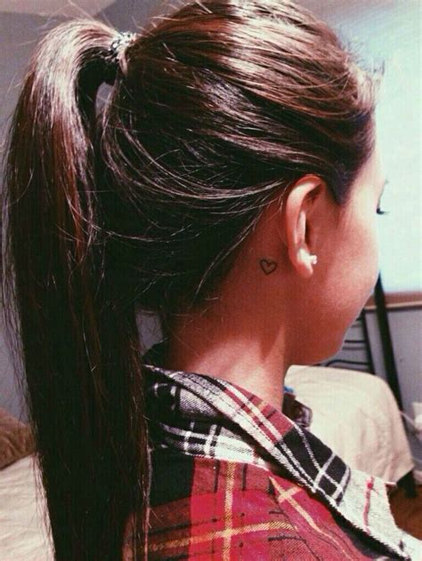 small heart tattoos behind ear cool small tattoos and suitable places to get them