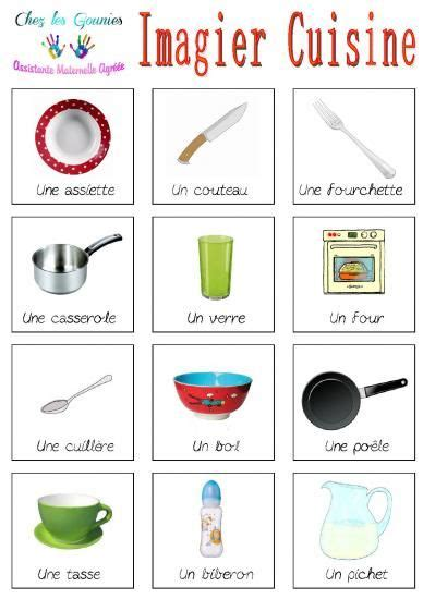 jeu ecole de cuisine de imagiers cuisine 201 ducation imagier