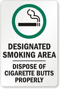 designated area dispose cigarette