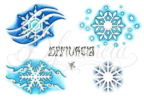 snowflake tattoo design snowflakes flash sheet by dfmurcia on deviantart