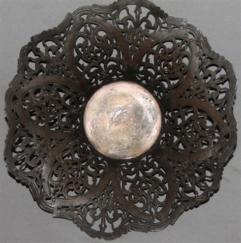 Antiques Decorative by Antique Ornate Metal Decorative Bowl Ebay