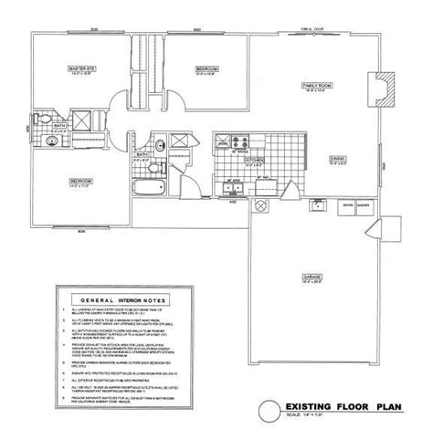 existing floor plans santa clara project demolition and plan changes