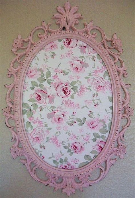 Pink Lace Fan Cover Shabby Vintage Home Decor Flower shabby chic cottage nursery room decor baroque ornate vintage frame magnetic board