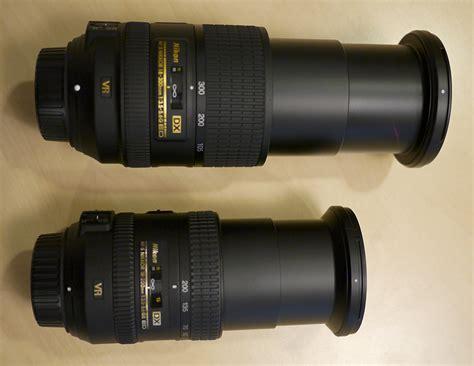 nikon lens 18 200 nikon 18 200mm and 18 300mm dx lenses size comparison