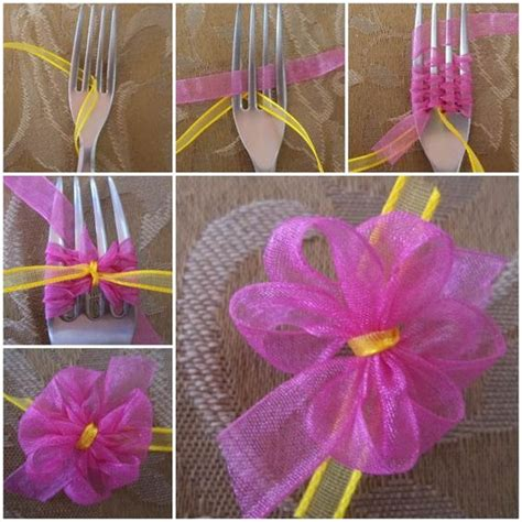 diy ribbon projects diy ribbon bow with a fork i am diy and crafts
