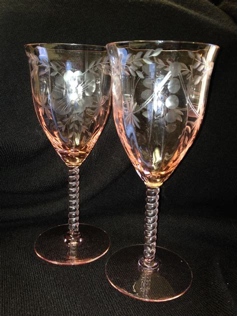 elegant barware central glass works elegant glass stemware collectors