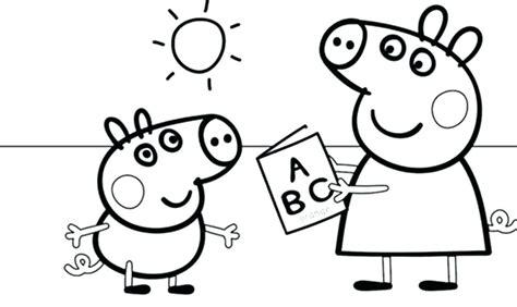 peppa pig para colorear pintar e imprimir peppa pig para colorear pig para pig y pig para peppa pig