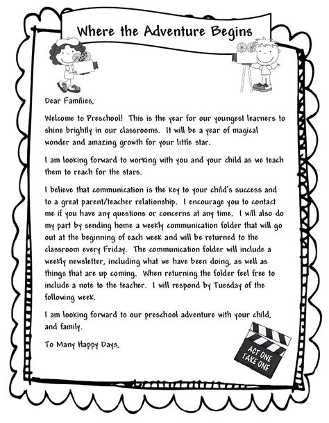 thank you letter to preschool parents learning and teaching with preschoolers welcome parents