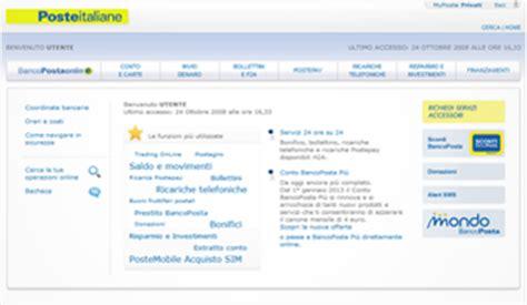 conto banco posta impresa poste italiane servizi per privati