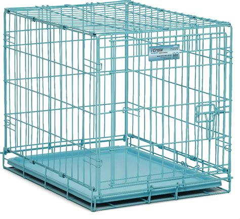 Midwest Icrate Door by Midwest Icrate Single Door Crate Blue 24 In Chewy